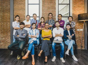 Group Of Asian and Multiethnic Business people with casual suit working in the modern Office, people business group concept
