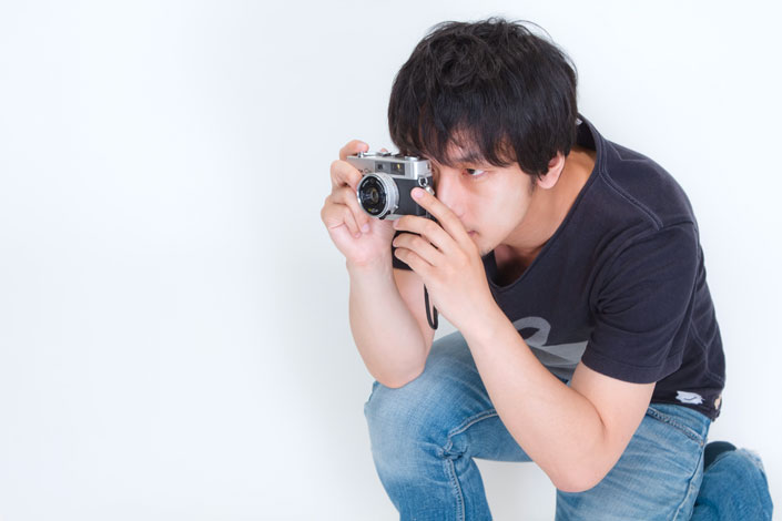 ~人を撮るときのカメラの構え~