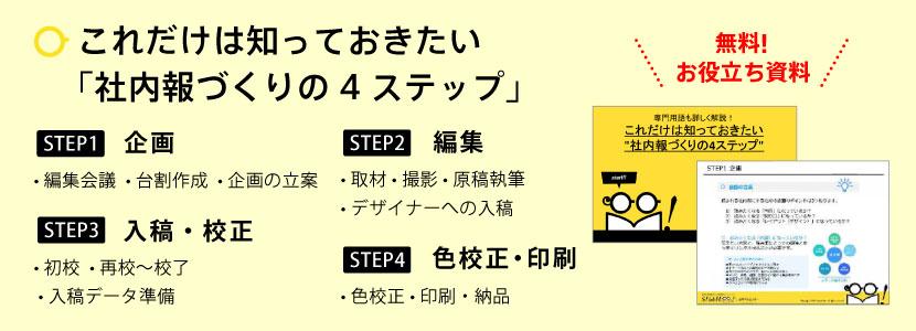 社内報づくりの4ステップ
