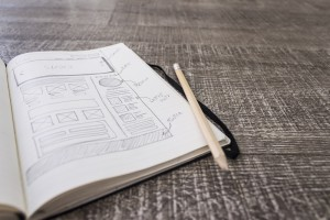 Web layout sketch paper